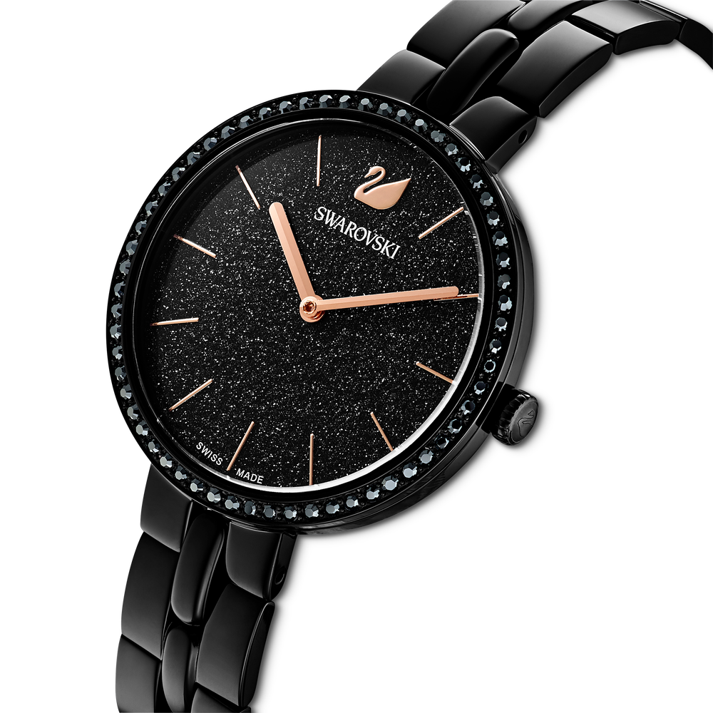 Cosmopolitan Watch, Metal bracelet, Black, Black PVD