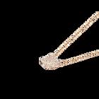 Iconic Swan Pendant, White, Rose Gold Plating
