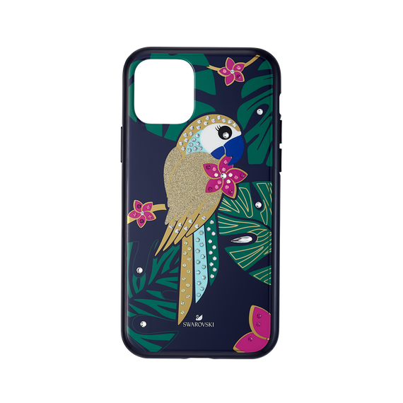 Tropical Parrot Smartphone Case with Bumper, iPhone® 11 Pro, Dark multi-colored