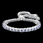 Subtle Bracelet, Blue, Rhodium plating