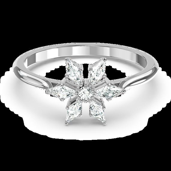Magic Ring, White, Rhodium plated