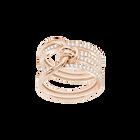 Lifelong Wide Ring, White, Rose Gold Plating
