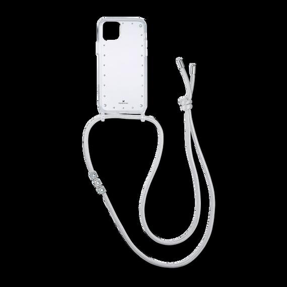 Swarovski Smartphone Necklace Case with Bumper, iPhone® 11 Pro Max, White
