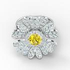 Eternal Flower Ring, Yellow, Mixed metal finish