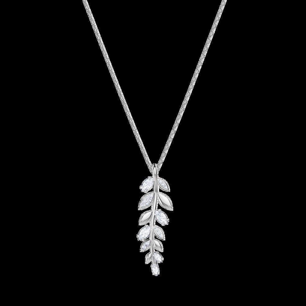 Mayfly Pendant, White, Rhodium Plating