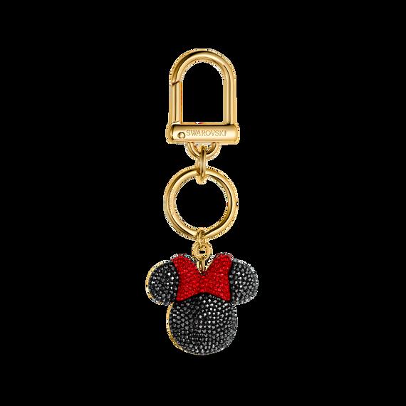 Minnie Bag Charm, Black, Gold-tone plated