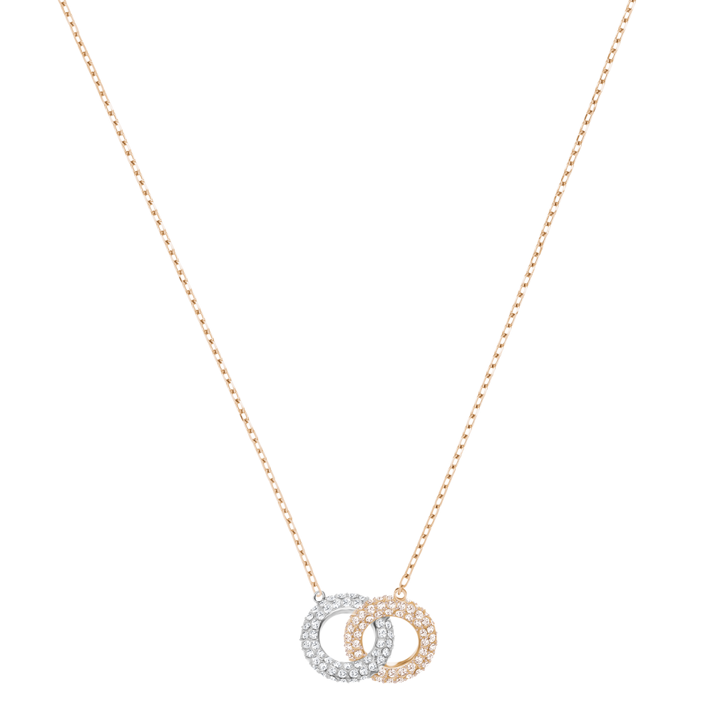 Stone Necklace, Multi-Colored, Rose Gold Plating