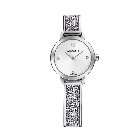 Cosmic Rock Watch, Metal Bracelet, White, Silver Tone