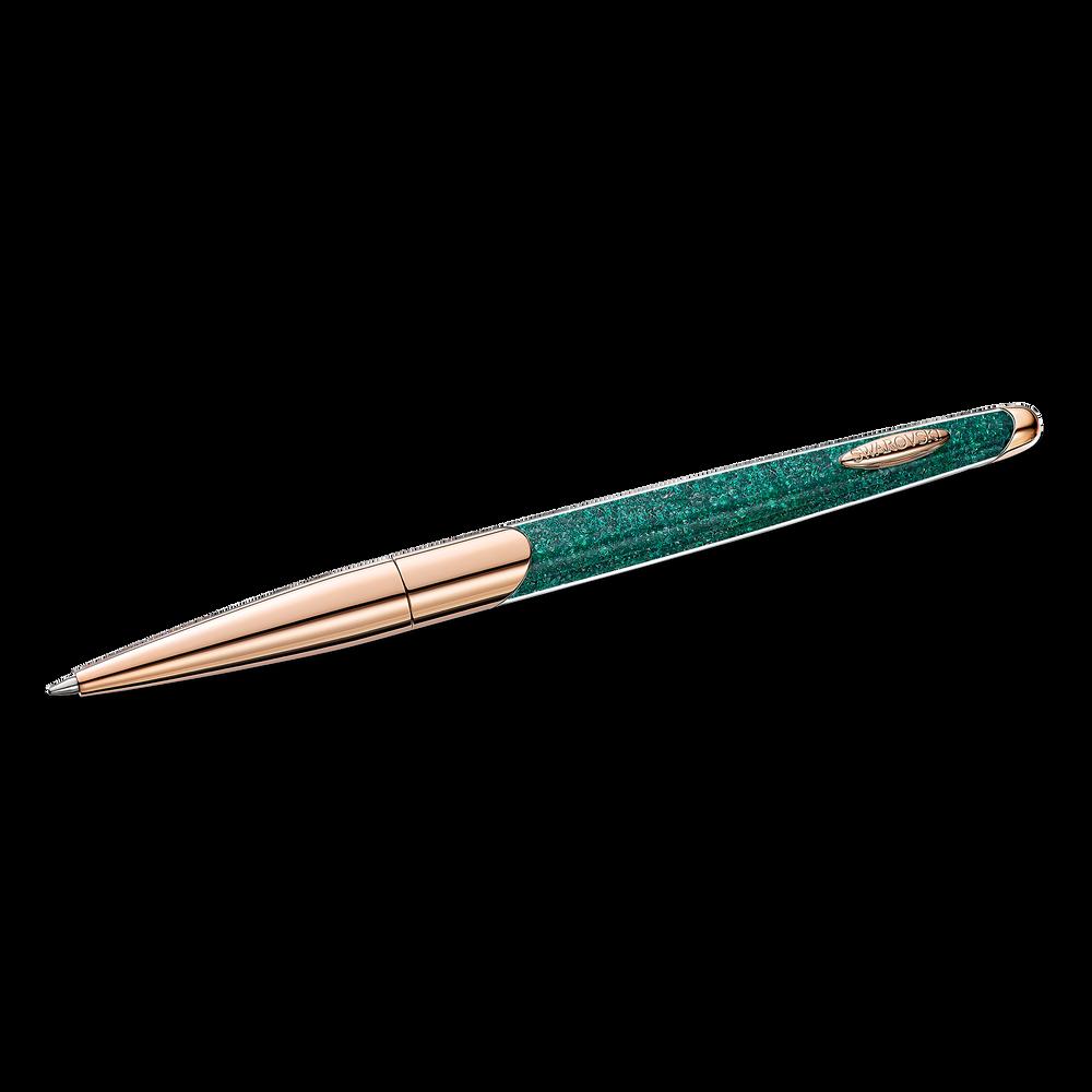 Crystalline Nova Ballpoint Pen, Green, Rose-gold tone plated