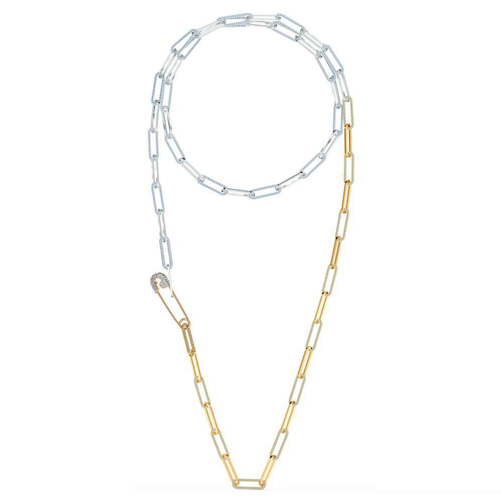 So Cool Necklace, White, Mixed metal finish