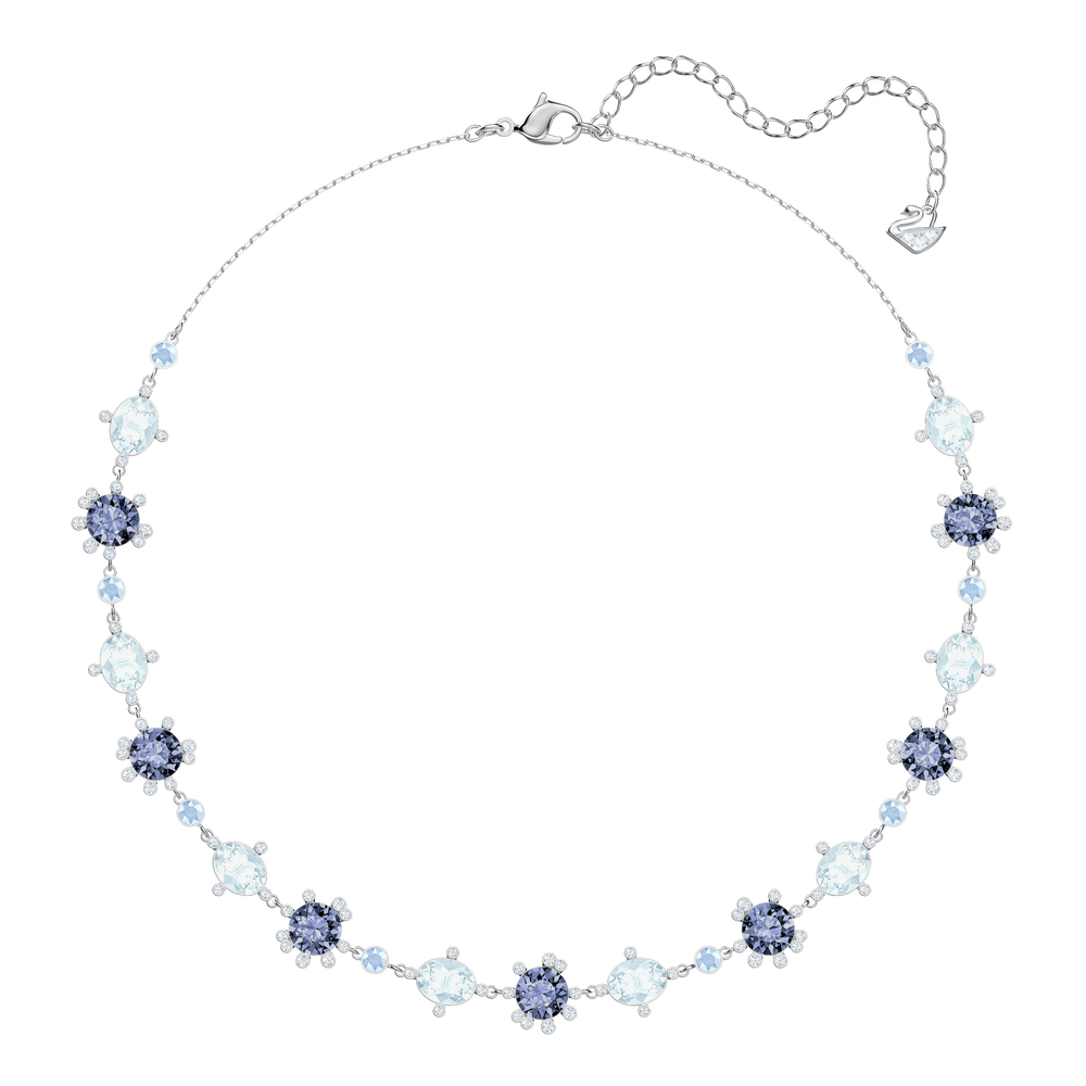 Olive Necklace, Multi-colored, Rhodium plating