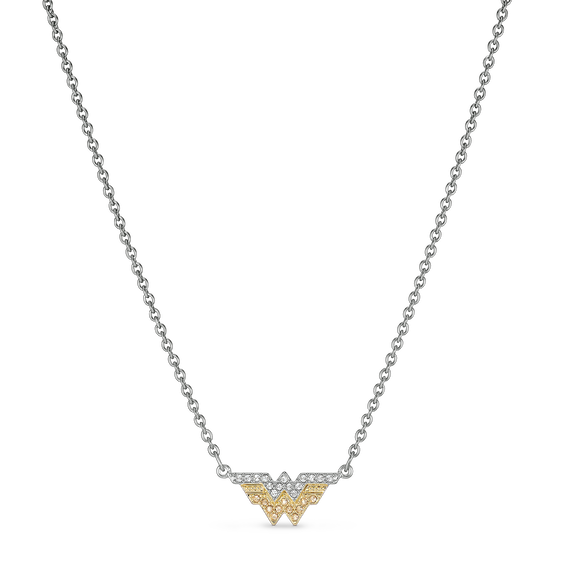 Fit Wonder Woman Necklace, Gold tone, Mixed metal finish