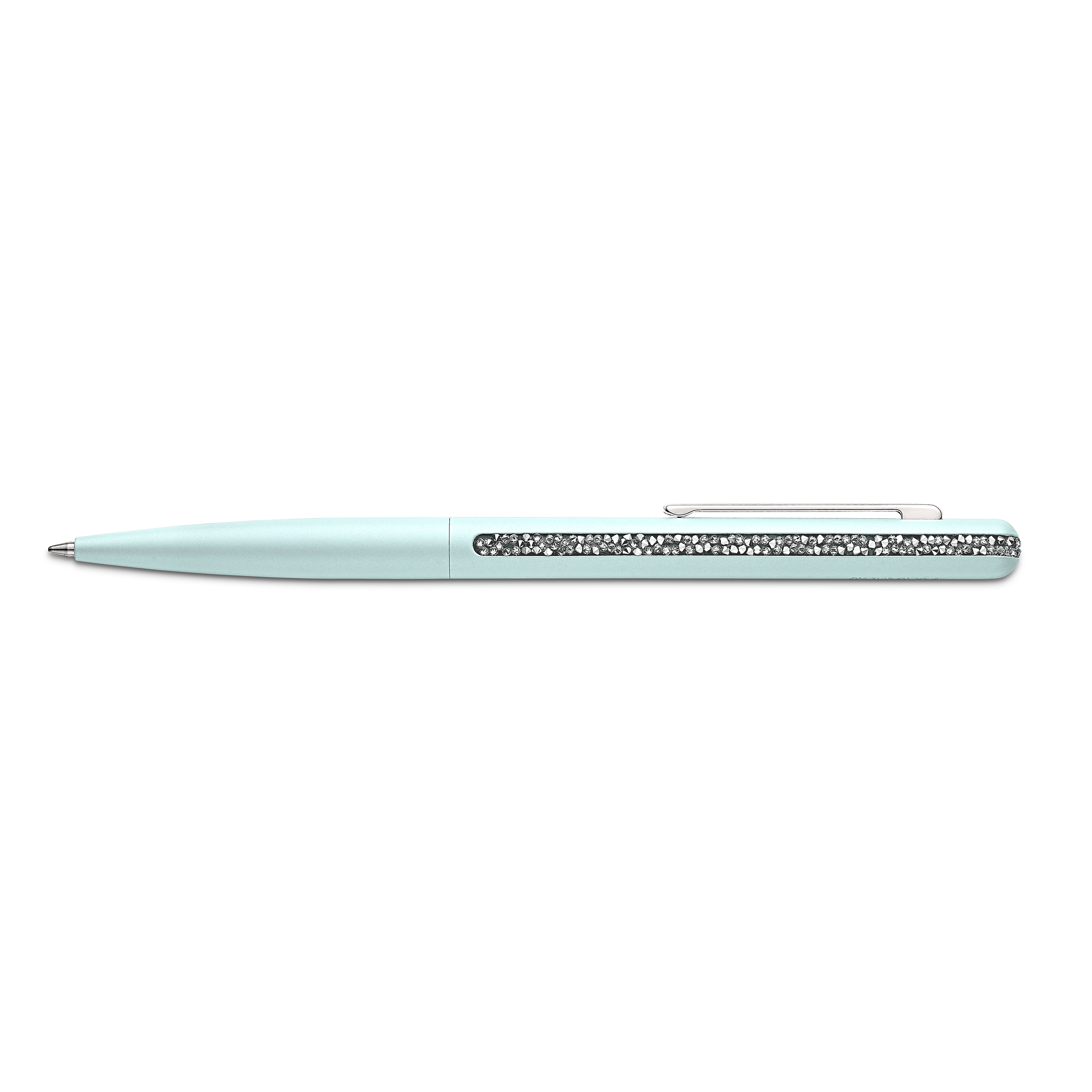 Crystal Shimmer Ballpoint Pen, Light Green, Chromed plated
