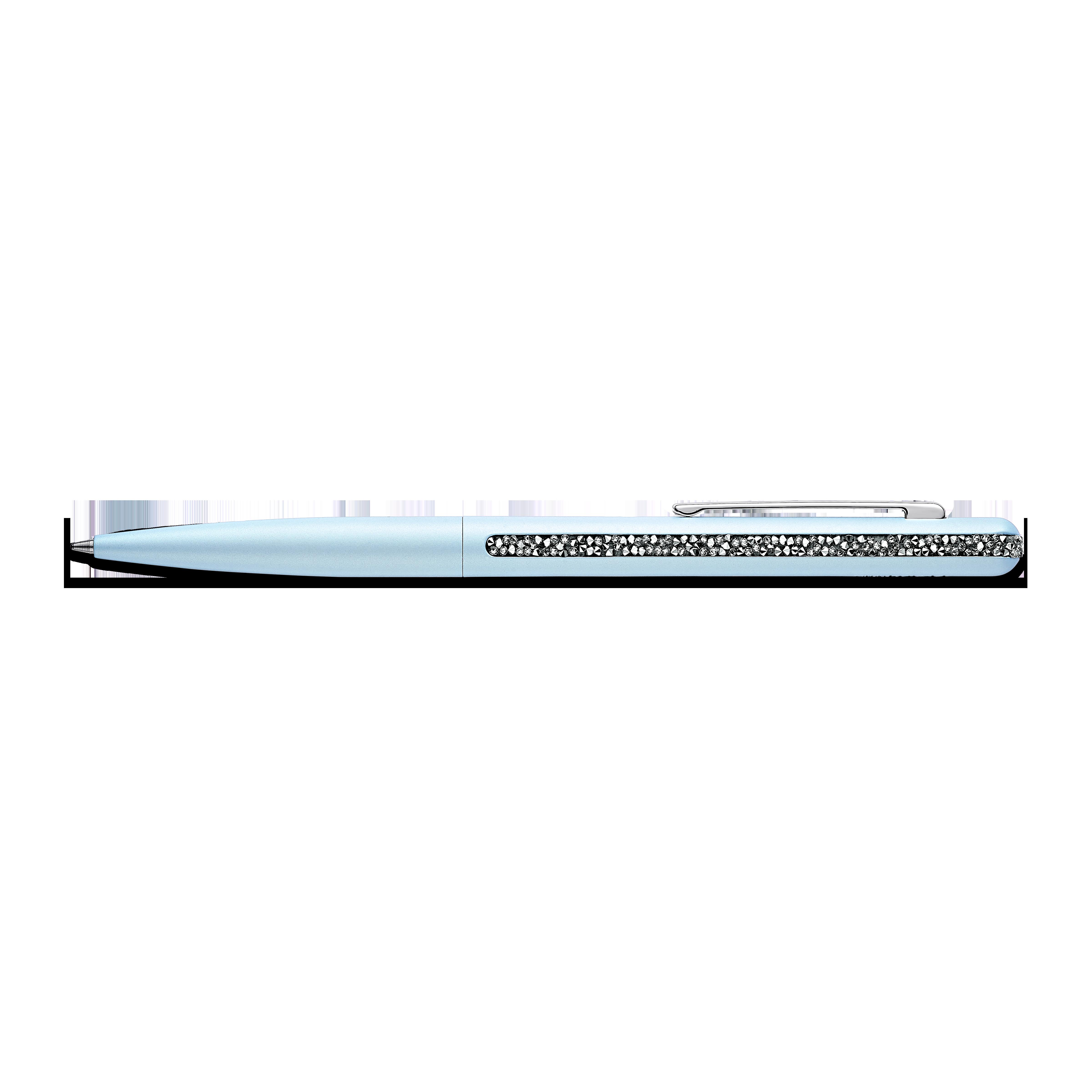 Crystal Shimmer Ballpoint Pen, Light Blue, Chromed plated