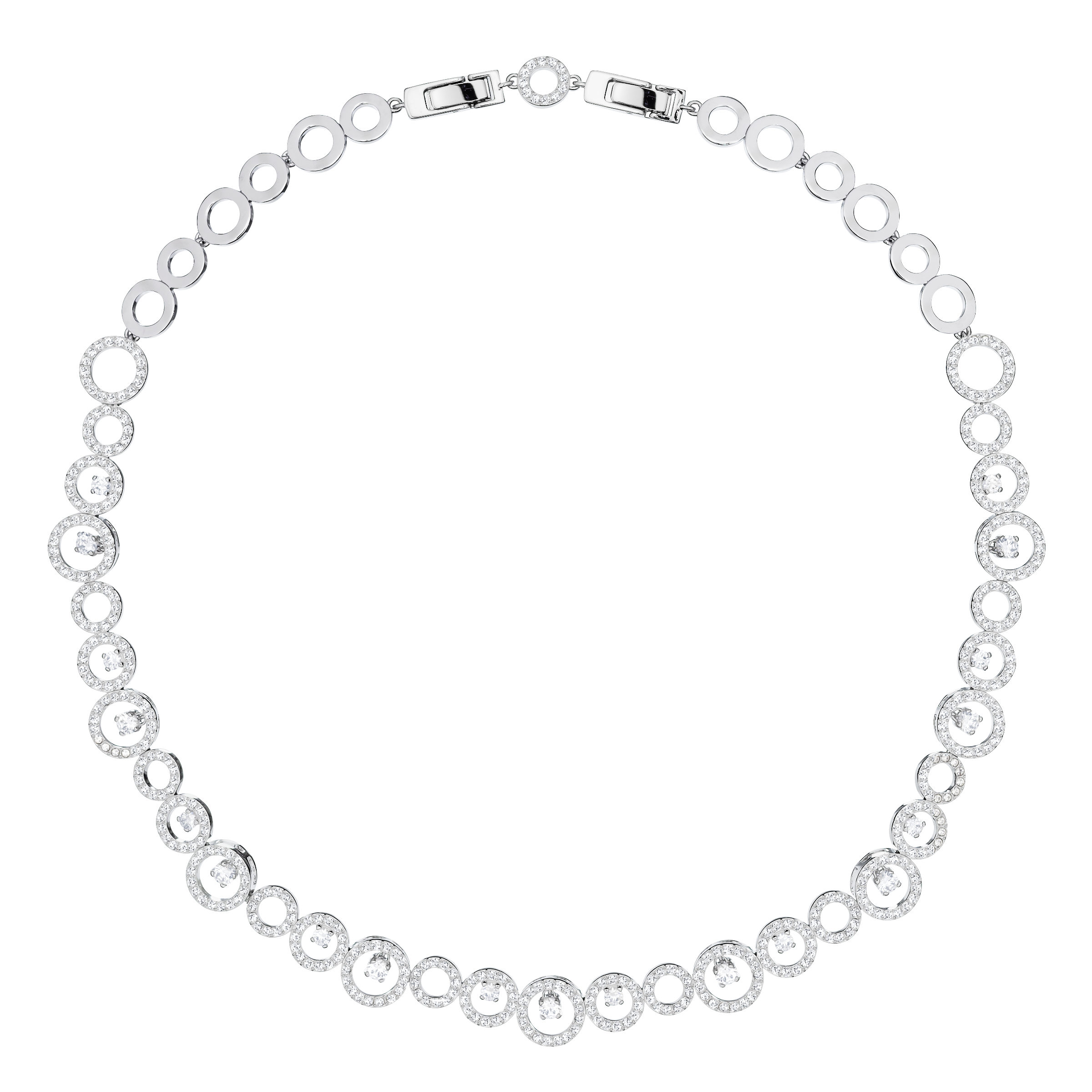 Creativity Necklace, White, Rhodium Plating